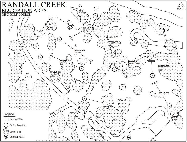 Randall Creek Recreation Area (Disk Golf Course Map)