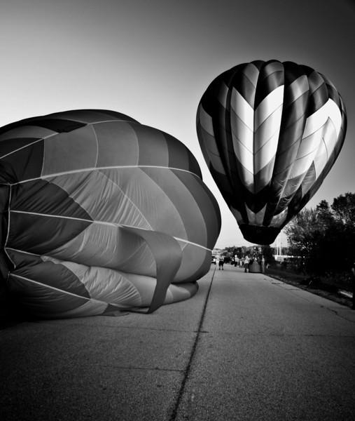 Outside  bw Balloons monochrome .jpg