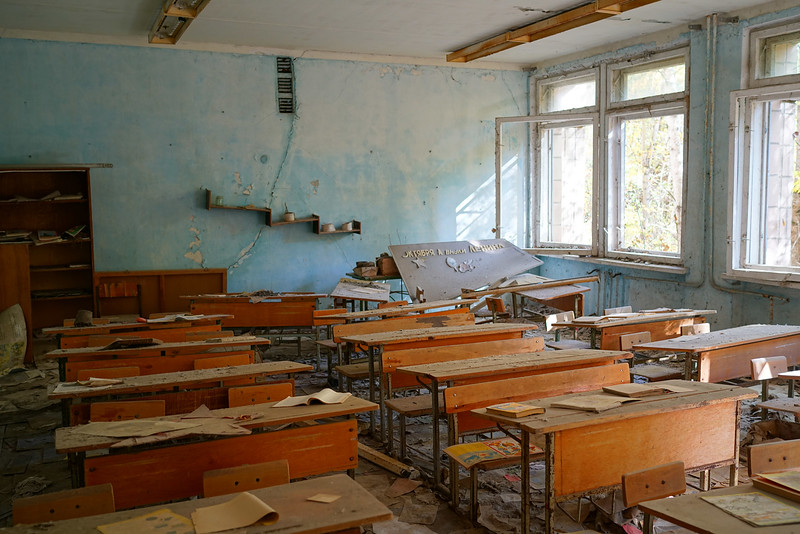 Remaining desks from what used to be school.jpg