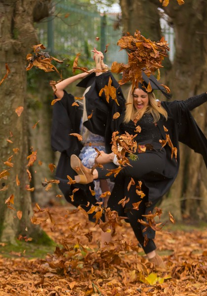 29/10/2015. Waterford Institute of Technology Conferring.  Pictured are Graduates in Bachelor of Arts (Honours) in Health Promotion are Sabrina Hawkins, Clonmel, Co. Tipperary and  Jessica O'Hanlon, Carrick On Suir, Co. Tipperary. Picture: Patrick Browne