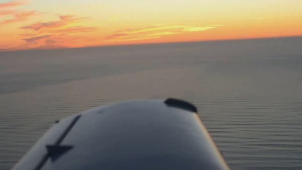 Sunset flight over San Francisco