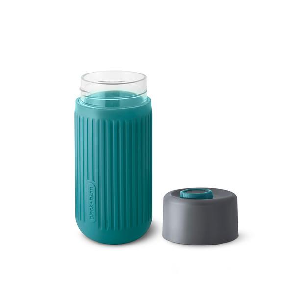 Glass Travel Cup ocean Black Blum