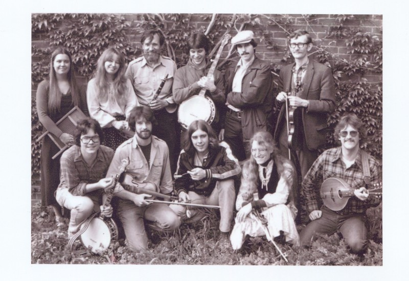 Studer is in the back holding his clarinet, 3rd from the left. The band leader is Jim Kimball, back row right.