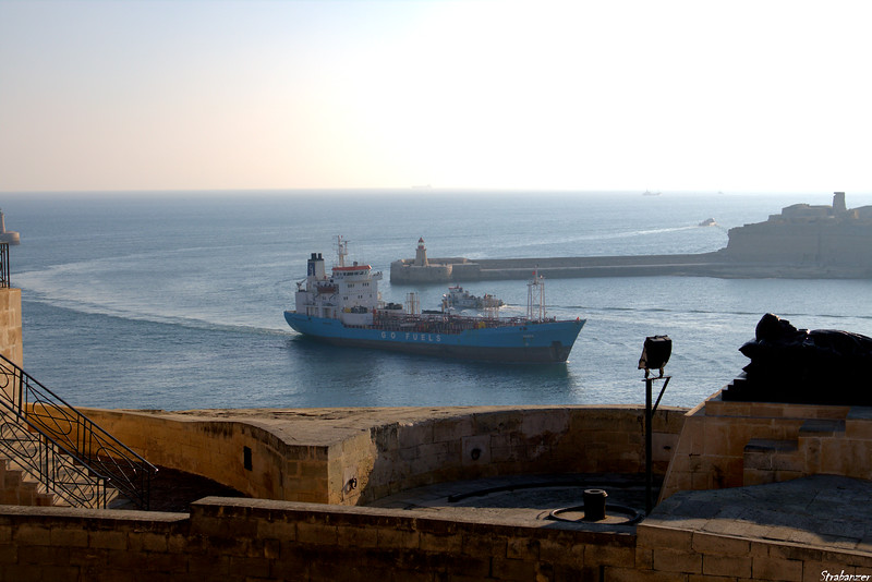 """Valletta Harbor Malta.   Oil Products Tanker """"Vanna""""     03/25/2019 This work is licensed under a Creative Commons Attribution- NonCommercial 4.0 International License"""