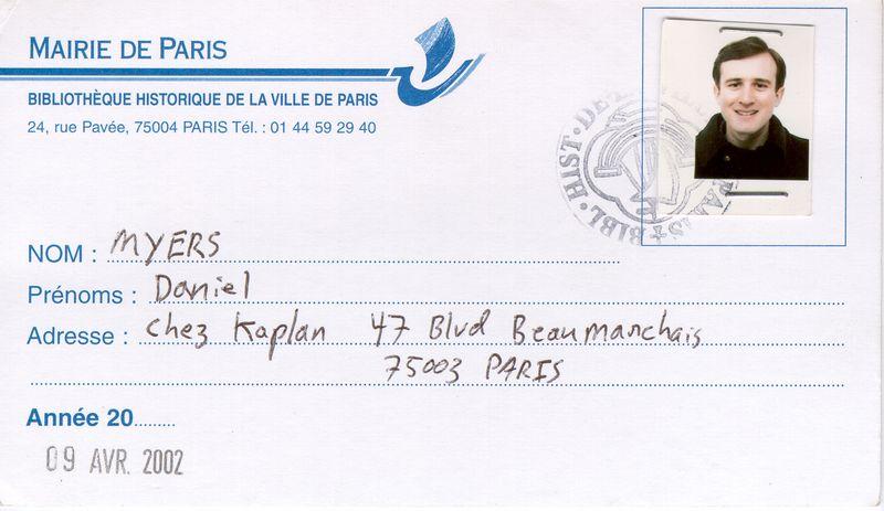 Study Abroad in Paris (Spring 2002)