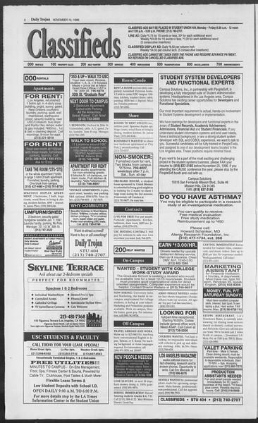 Daily Trojan, Vol. 129, No. 55, November 15, 1996