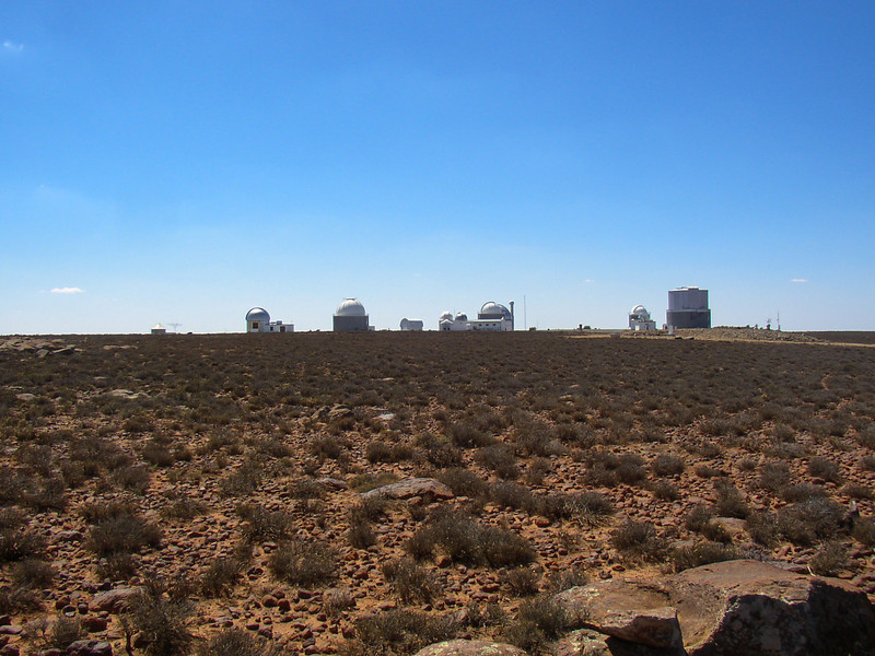 View of the telescopes. Sutherland, South Africa