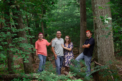 Fleagle Family Group Pictures Outdoor Summer Woods Woodland Portraits Brothers Siblings Mom Mother Dad Father Son Cute Happy Love Sweet Natural Simple Western Mass Photo Studio Westfield Ma Mill Crane Pond Kimberly Hatch Photography Professional Corporate