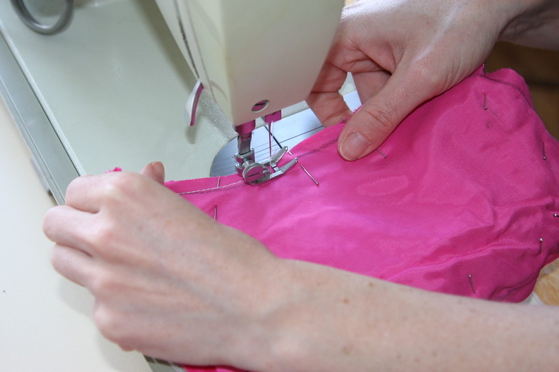 Time to SEW!  (backstitch around the opening to help keep if from opening up.