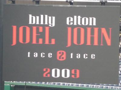 Billy Joel & Elton John, Face 2 Face Concert - Nationals Stadium, Washington DC, July 11, 2009