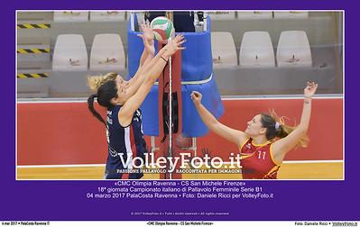 «CMC Olimpia Ravenna - CS San Michele Firenze» 18ª #B1Fvolley