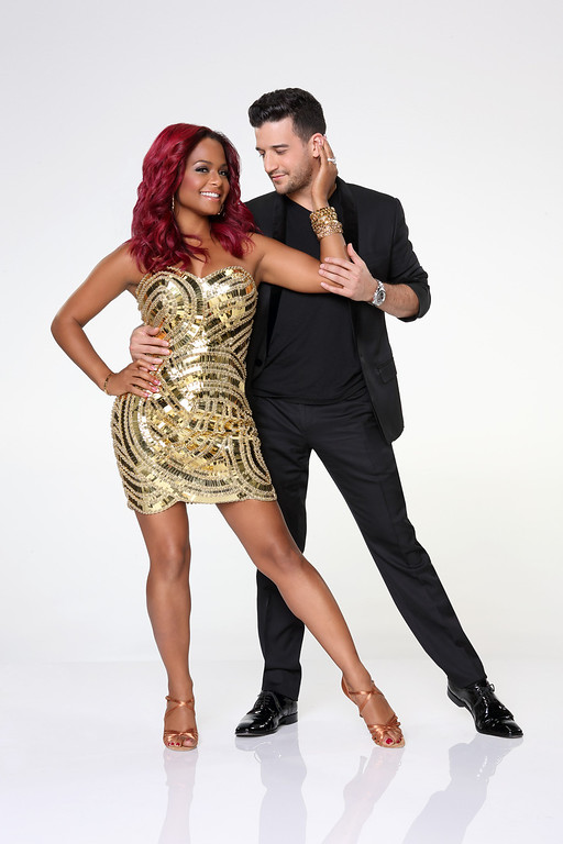 """. DANCING WITH THE STARS - CHRISTINA MILIAN & MARK BALLAS - Christina Milian partners with Mark Ballas. \""""Dancing with the Stars\"""" returns for Season 17 on MONDAY, SEPTEMBER 16 (8:00-10:01 p.m., ET), on the ABC Television Network. (ABC/Craig Sjodin)"""