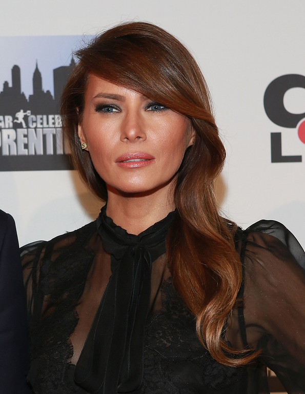 """. Melania Trump attends \""""All Star Celebrity Apprentice\"""" Finale at Cipriani 42nd Street on May 19, 2013 in New York City.  (Photo by Robin Marchant/Getty Images)"""