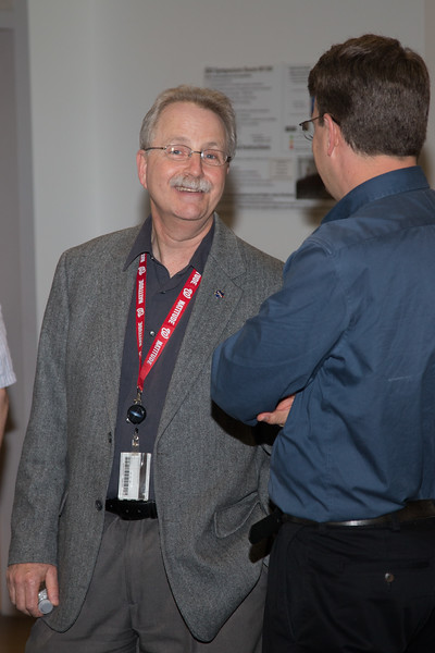 "Paul Hertz with Jon Gardner -- Retirement party for Robin ""Tuck"" Stebbins, NASA/GSFC, May 20, 2016"