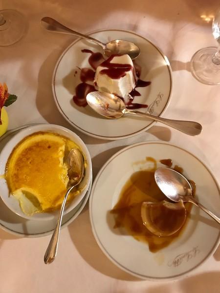 Dessert at Hotel Chiareggio!