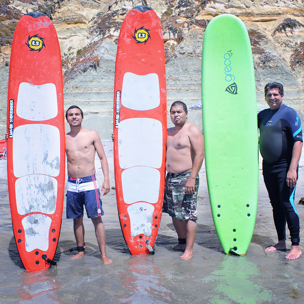We had a nice beach party and broke out the surfboards.