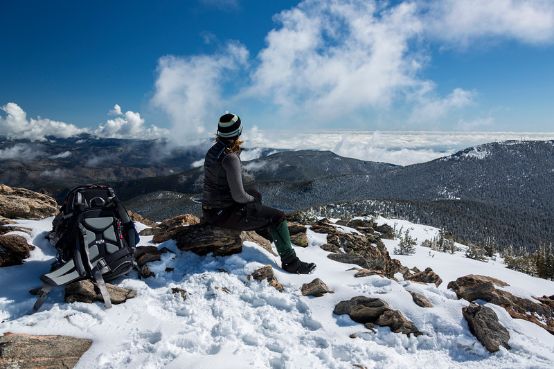 Looking out to the northeast from the summit of Chief Mountain near Evergreen, CO.