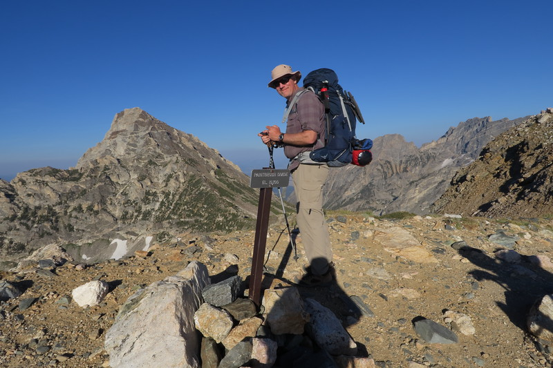 Greg takes in the view at Paintbrush Divide