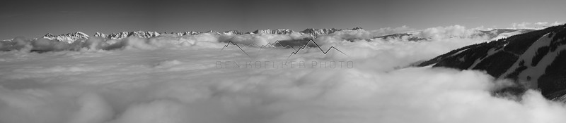 Panorama of an Inversion, Beaver Creek, CO.