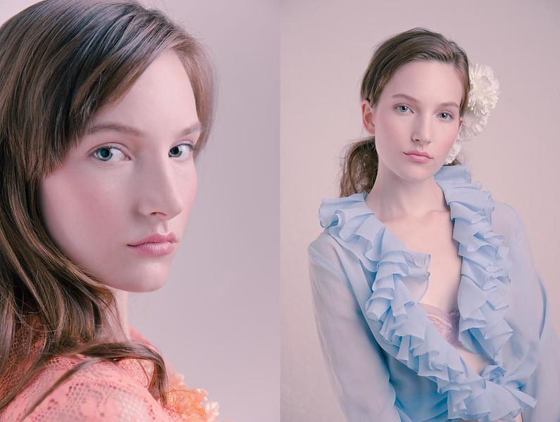 Sari Mercer - creative, hair + makeup Jessica Venturi, styling Charlotte Stokes.