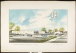 Architectural rendering of Fed Mart Retail Store, Yuma, Arizona, by Carl Maston, [s.d.], copy 1
