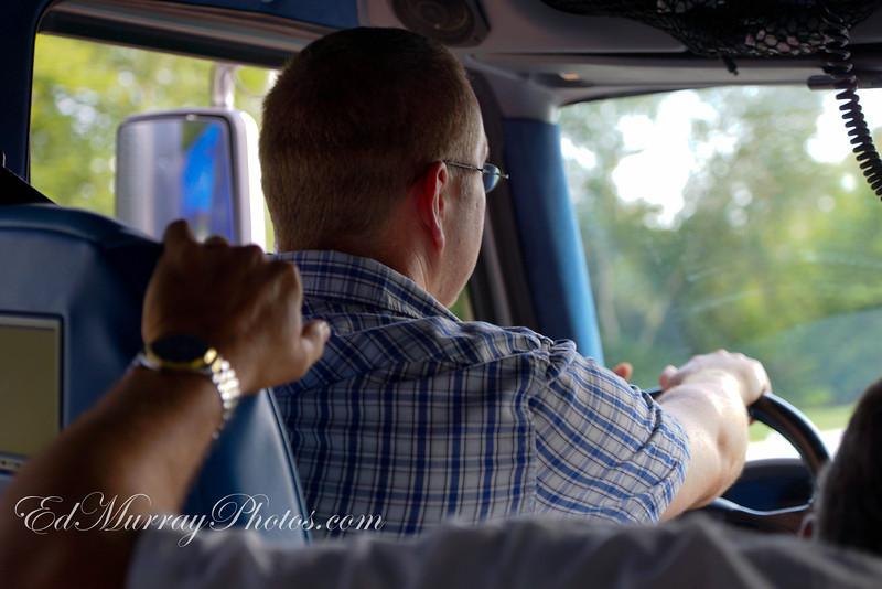 Jay behind the wheel of Big Al