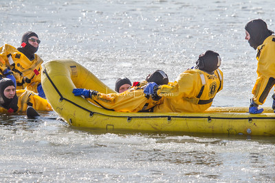 City of Rochester Firefighters - Water Rescue Training