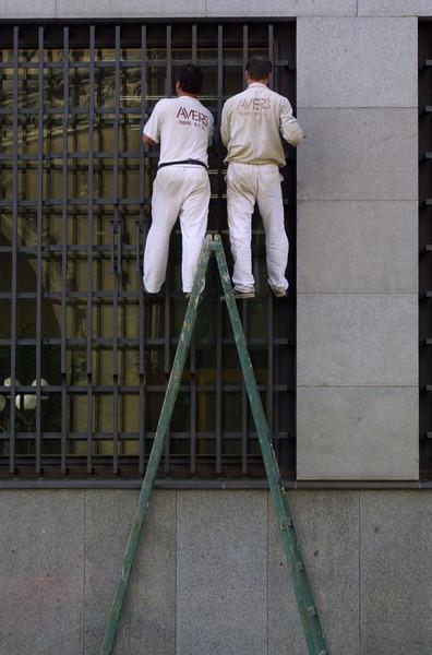 Workers on Ladder Prague