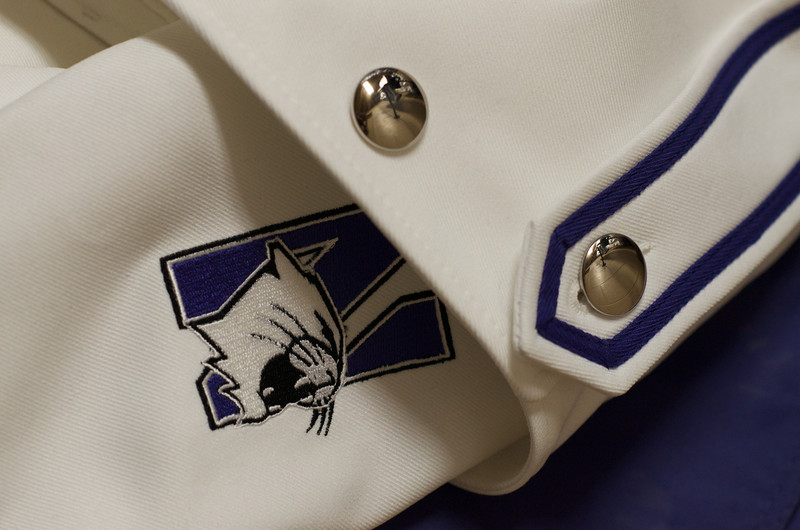 Detail of final Northwestern University Marching Band Drum Major Uniform, Northwestern University 2010.