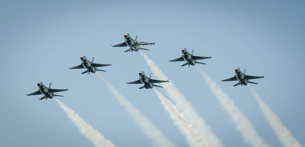 And here comes the Thunderbirds.  What a thrill to experience them live!!