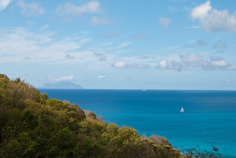 Looking towards what i believe is the island of Saba