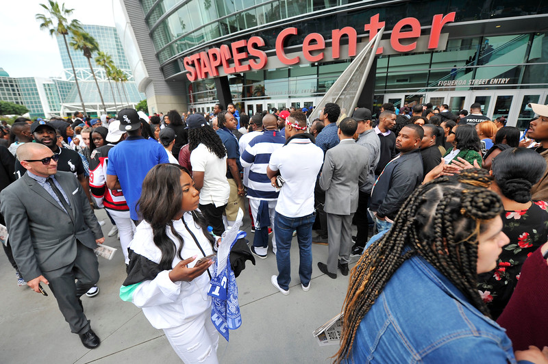 NIPSEY HUSSLE MEMORIAL AT THE STAPLES CENTER HELD ON APRIL 11, 2019. PHOTOGRAPHER VALERIE GOODLOE