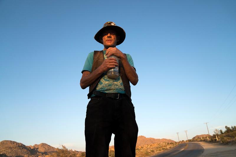 Cave dweller in Mojave desert, California