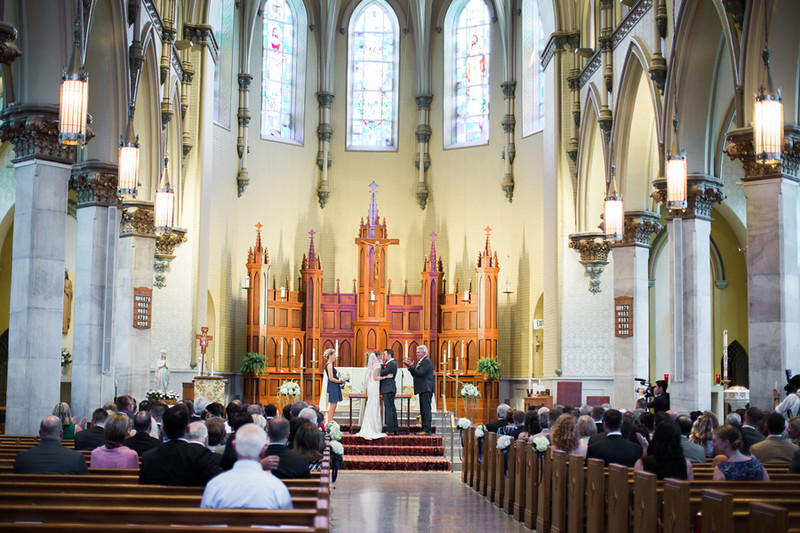 The Baltimore area Catholic wedding ceremony was at The Church of the Immaculate Conception in Towson, MD. This was a 1840s Plaza wedding reception. The best Baltimore wedding photographer was Jalapeno Photography.