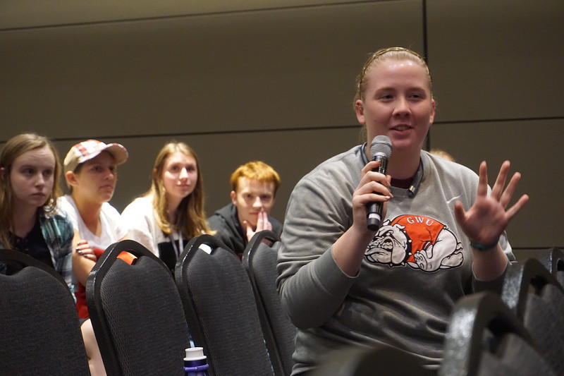 Students had the opportunity to ask questions in a Q&A time at the end of the discussion.