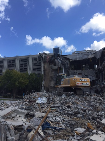 NPK M38G Material Processor rental on Deere excavator - commercial demolition Atlanta, GA (1).JPG