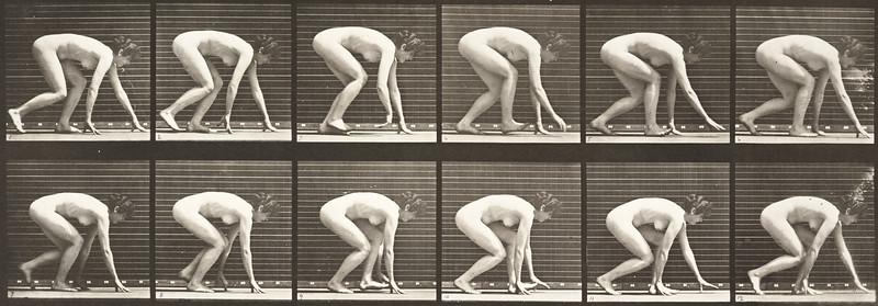 Nude woman walking (Animal Locomotion, 1887, plate 183)