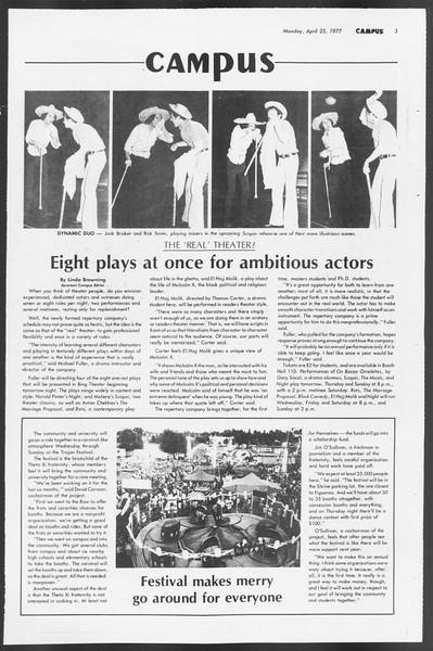 Daily Trojan, Vol. 71, No. 45A, April 25, 1977