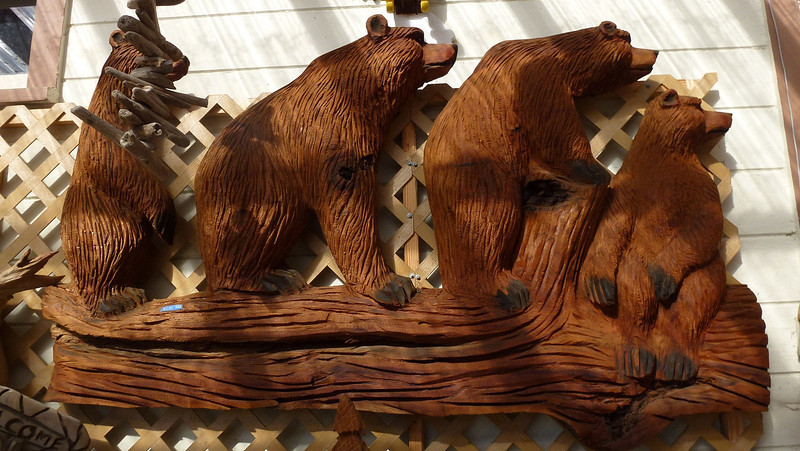 More Wood carving at Orick Route 101