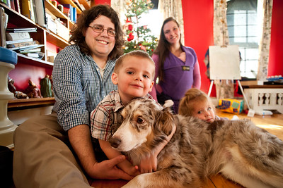 Doug & Amy, Eli, Abby & Gregory