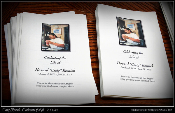 Craig Resnick - Celebration of Life 7-13-13 (Framed Photos)