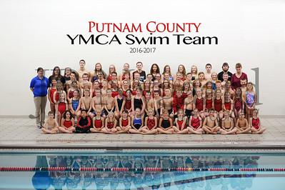 2016-2017 Putnam Co YMCA swim team