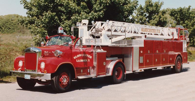 Retired Ladder 1.  1966 Mack B / 1985 LTI.  106' TT