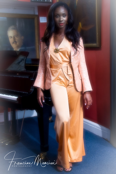 Chelsea Freeman wearing Chita Rivera's Bob Mackie outfit.