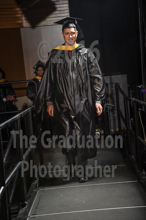 Ceremony Three Grads Walking