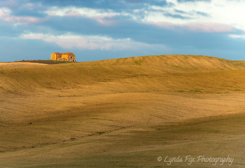 Lonely House In Golden Fields