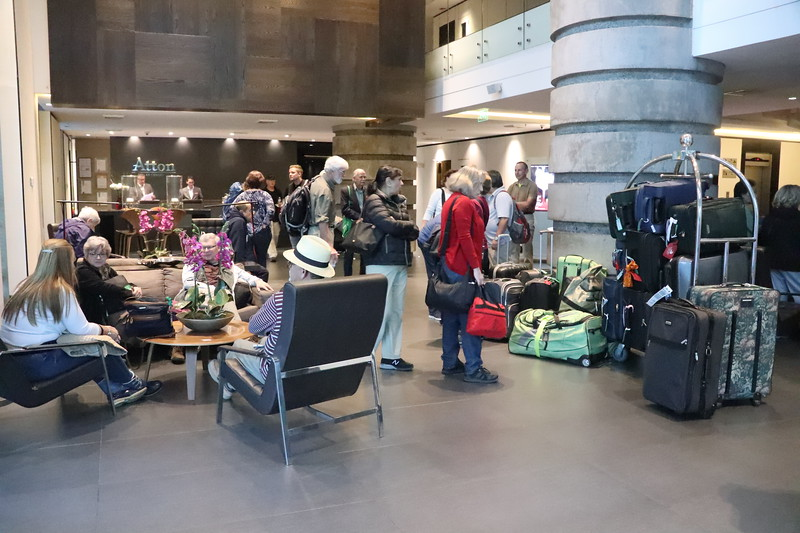 Check out in the Lobby - the gathering place before embarking on another adventure