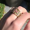 .38ctw Antique Diamond and Ruby Buckle Ring 19