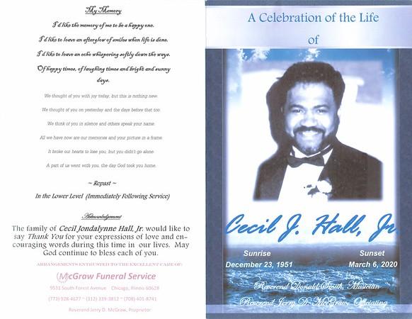 20200313 A Celebration of Life of Cecil J Hall Jr.