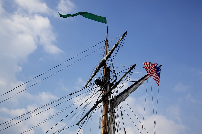 Mast and rigging of the Friends Good Will.
